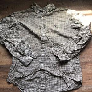 (2/$15) Olive Ralph Lauren button down